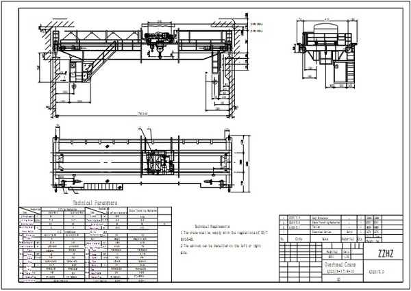 Overhead Crane Autocad Drawing : Double girder overhead crane for work zzhz