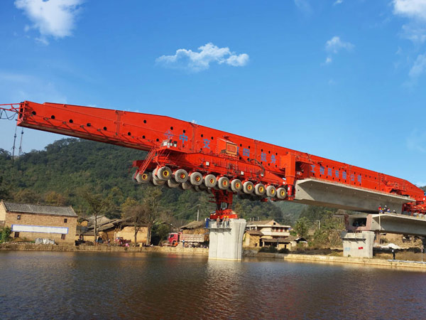 Bridge Girder Launcher Integrating Carrying and Erecting